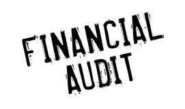 Financial Audit rubber stamp Stock Image