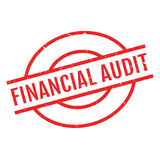 Financial Audit rubber stamp Stock Images