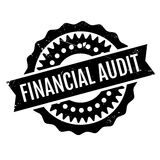 Financial Audit rubber stamp. Grunge design with dust scratches. Effects can be easily removed for a clean, crisp look. Color is easily changed Royalty Free Stock Images