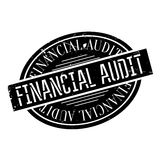 Financial Audit rubber stamp Stock Photography