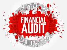 Financial Audit word cloud royalty free stock photos