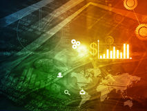 Financial background. Concept. digital illustration Stock Photo