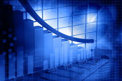 Financial background. 3d illustration of Financial background Royalty Free Stock Image