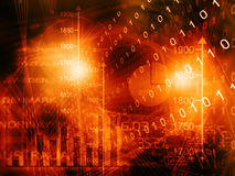Financial background. Digital illustration of Financial background Stock Image