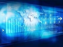 Financial background. Digital illustration of Business graph background vector illustration