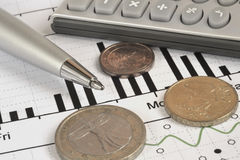 Financial background Stock Photography