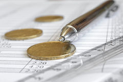 Financial background Stock Image