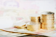 Financial background with ukrainian money Royalty Free Stock Photography