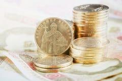 Financial background with ukrainian money Royalty Free Stock Photos