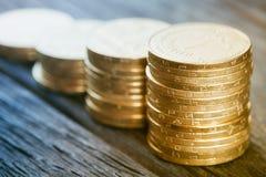 Financial background with ukrainian money Royalty Free Stock Image