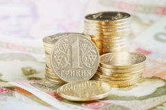Financial background with ukrainian money Stock Images