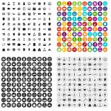 100 financial backing icons set vector variant. 100 financial backing icons set vector in 4 variant for any web design isolated on white Stock Photo
