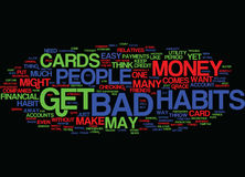 Financial Bad Habits Text Background  Word Cloud Concept. FINANCIAL BAD HABITS Text Background Word Cloud Concept Stock Image