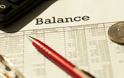 Financial balance Stock Image