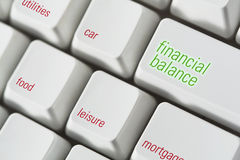 Financial Balance Keyboard Stock Photos