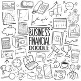 Financial Bank Business Traditional Doodle Icons Sketch Hand Made Design Vector Royalty Free Stock Photos