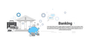 Financial Banking Business Finance Thin Line. Vector Illustration Stock Photo