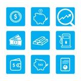 Financial banking  icon design Royalty Free Stock Photo