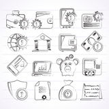 Financial, banking and money icons. Vector icon set Royalty Free Stock Photos