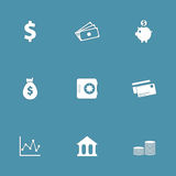 Financial Banking Vector Icon Set Royalty Free Stock Images