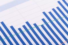 Financial Bar Chart Graphs Royalty Free Stock Image