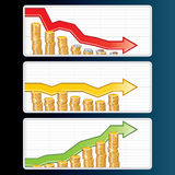 Financial Bar Graphs Stock Photos