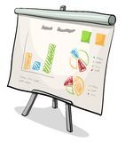 Financial board with presentation graph. Vector illustration of financial board with presentation graph Stock Image