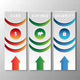 Financial Bookmark Icon. An image of financial bookmark icons Royalty Free Stock Photo
