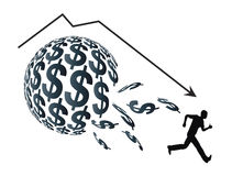 Financial Bubble. Concept of economic crisis when a sudden drop in prices appears Stock Images