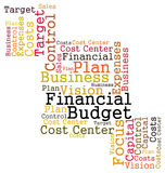 Financial budget Stock Image