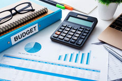 Financial and budget planning with chart report Stock Photography