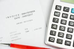 Financial budget statement read and check the number for analysi. S invest stock business target stock photos