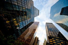 Financial buildings Royalty Free Stock Photo