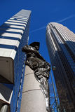 Financial buildings in Charlotte, NC, USA Stock Photography