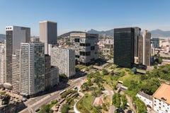 Financial Buildings in Downtown Rio de Janeiro Royalty Free Stock Photography