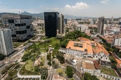 Financial Buildings in Downtown Rio de Janeiro Stock Photos