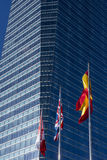 Financial buildings Stock Photography
