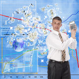 Financial business. Financial pink dreams of profit burst as if soap bubbles Royalty Free Stock Photos