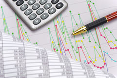 Financial business calculation Stock Image