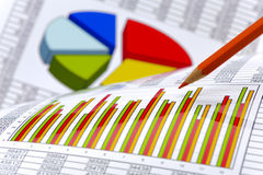Financial business calculation Royalty Free Stock Photography