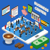 Financial Business Center Isometric Composition Poster Stock Image