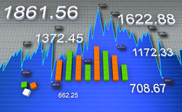 Financial and business chart Royalty Free Stock Photography