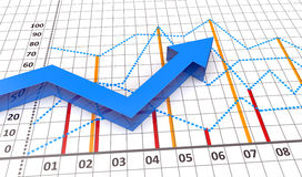 Financial and business chart. And graphs as symbols of growth Stock Photography
