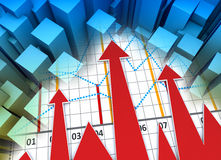 Business chart Royalty Free Stock Photos
