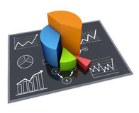 Business chart. Financial and business chart and graphs Stock Images