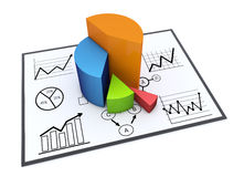 Chart and graphs. Financial and business chart and graphs Stock Images
