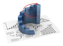Chart and graphs. Financial and business chart and graphs Royalty Free Stock Photography