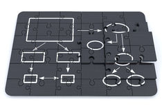 Business process diagram Stock Photos
