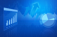 Financial and business chart and graphs Royalty Free Stock Images