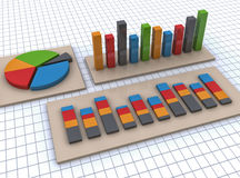 Financial business chart and graphs Stock Photo